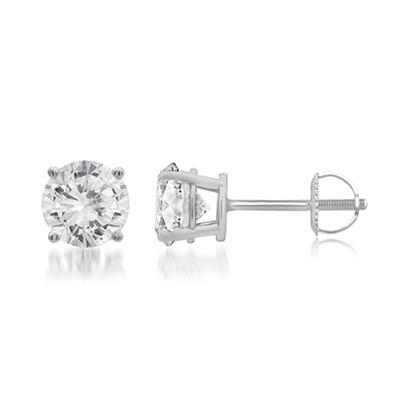.75 ct. t.w. Round-Cut Diamond Stud Earrings in 14k White Gold