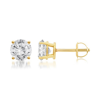 .75 ct. t.w. Round-Cut Diamond Stud Earrings in 14k Yellow Gold
