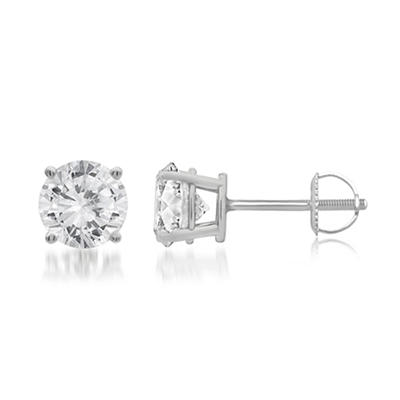 1.00 ct. t.w. Round-Cut Diamond Stud Earrings in 14k White Gold