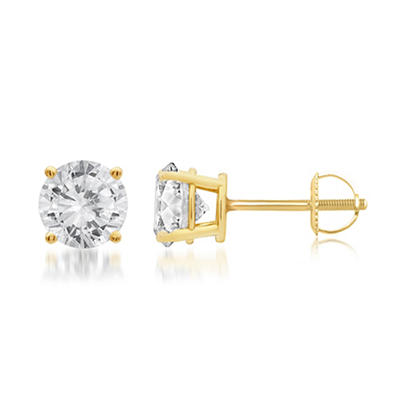 1.00 ct. t.w. Round-Cut Diamond Stud Earrings in 14k Yellow Gold