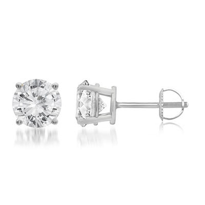 2.00 ct. t.w. Round-Cut Diamond Stud Earrings in 14k White Gold