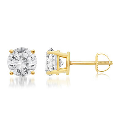 2.00 ct. t.w. Round-Cut Diamond Stud Earrings in 14k Yellow Gold