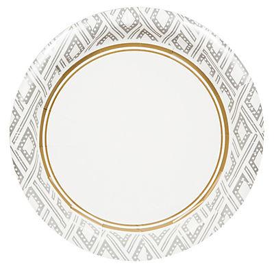 """Artstyle 10"""" Plates, 40 ct. - Majestic Metallics"""