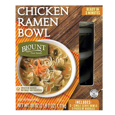 Blount Chicken Ramen Bowl, 3 pk.