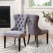 Abbyson Living Tyrus Tufted Dining Chair - Gray