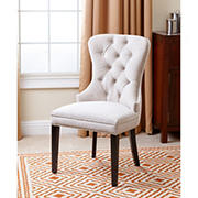 Abbyson Living Tyrus Tufted Dining Chair - Ivory