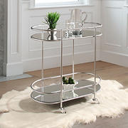 Abbyson Living Elian Bar Cart - Silver