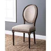 Abbyson Living Kennedy Round Back Dining Chair - Wheat Linen