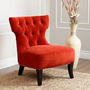 Abbyson Living Lora Microsuede Fabric Chair - Sangria Orange