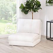 Abbyson Living Kai Single Sleeper Chair - White