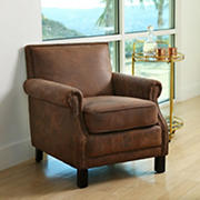 Abbyson Living Skye Fabric Club Chair - Antique Brown