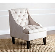 Abbyson Living Emmerson Tufted Swoop Chair - Cream