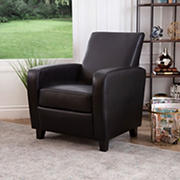 Abbyson Living Bilson Leather Club Chair - Black