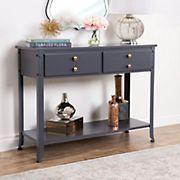 Abbyson Living James Console Sofa Table - Antiqued Blue