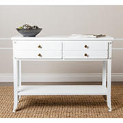 Abbyson Living James 2-Drawer Console Sofa Table - Antiqued White