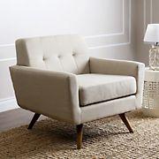 Abbyson Living Brandon Fabric Armchair - Ivory