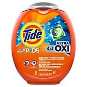 Tide PODS Ultra OXI Liquid Detergent Pacs, 80 ct.