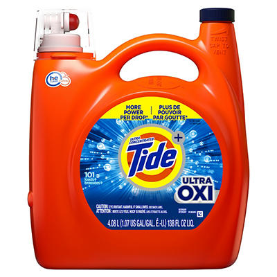 Ultra Concentrated Tide Ultra OXI Liquid Laundry Detergent, 101 loads,