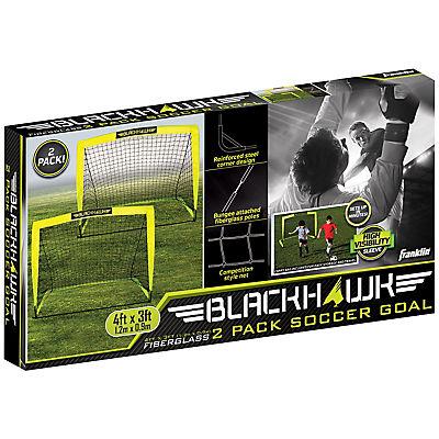 Franklin Sports Blackhawk 4' x 3' Soccer Goals, 2 pk.