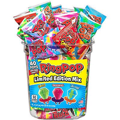 TOPPS Ring Pops Variety Pack, 40 pk.
