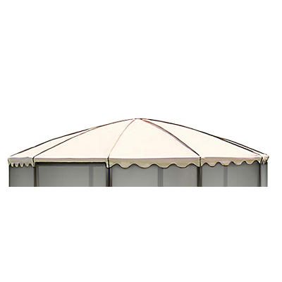 "Casita Replacement Roof for 12'3"" Round Screenhouse - Almond"