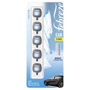 Febreze Car Air Freshener Linen and Sky Vent Clips, 5 ct./0.06 fl. oz.