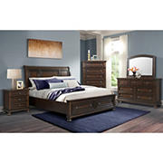 Picket House Furnishings Kingsley 3-Drawer Nightstand with USB Ports - Walnut