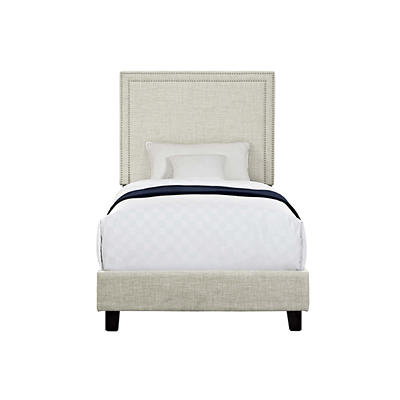 Picket House Furnishings Emery Upholstered Twin-Size Platform Bed - Na