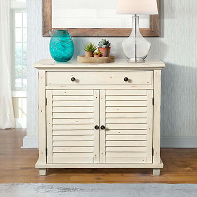 Picket House Furnishings Marshall Accent Chest - Antique Bisque