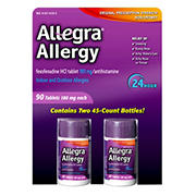 Allegra 180mg Adult 24-Hour Allergy Tablets, 90 ct.