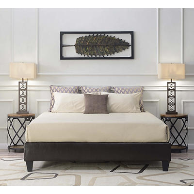 Picket House Furnishings Abby King-Size Platform Bed - Brown