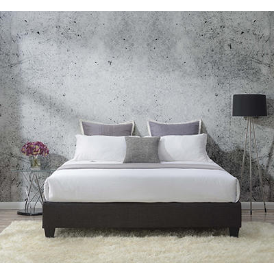 Picket House Furnishings Abby King-Size Platform Bed - Gray
