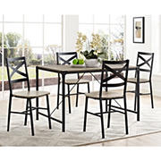 W. Trends Angle Iron 5-Pc. Dining Set - Driftwood