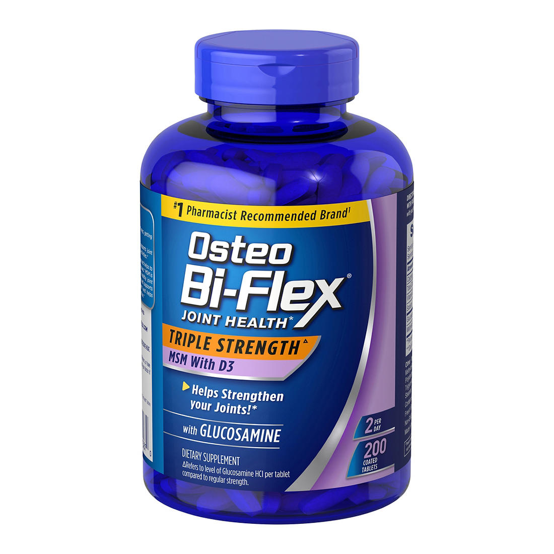 photo relating to Osteo Bi Flex Coupon Printable named Osteo Bi-Flex 1,500mg Glucosamine HCl Drugs, 200 ct.