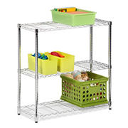 Honey-Can-Do 3-Tier Storage Shelves - Chrome
