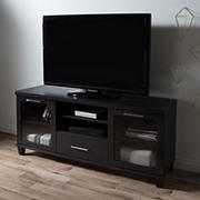 "South Shore Adrian 60"" TV Stand for TVs Up to 60'' - Black Oak"