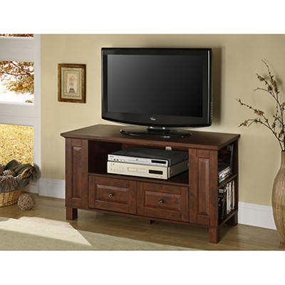 "W. Trends 44"" Entertainment Center - Traditional Brown"