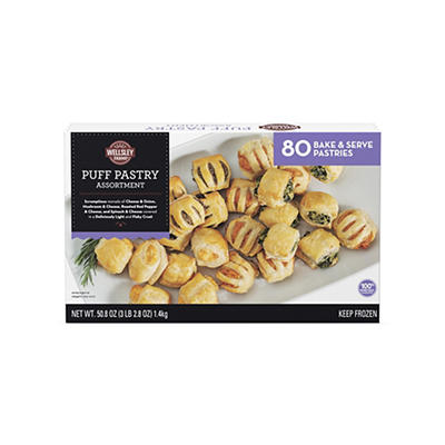 Wellsley Farms Puff Pastry Assortment, 80 ct./2.8 oz.
