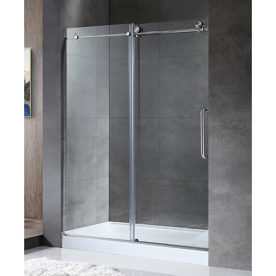"""ANZZI Madam 76"""" Shower Door - Brushed Nickel"""