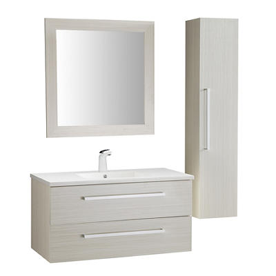 "ANZZI Conques 39"" Vanity with 017 Faucet - White"