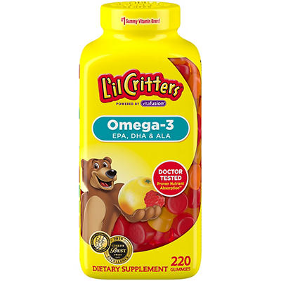 L'il Critters Omega-3 Gummy Fish for Children - 180 ct.