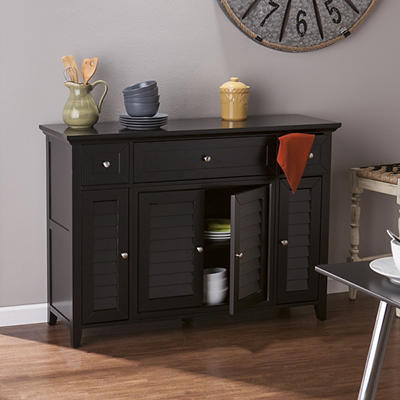 SEI Florence 3-In-1 Media Console - Black