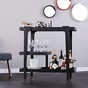 SEI Holly & Martin Zhori Mid-Century Modern Bar Cart - Black