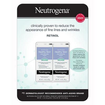 Neutrogena Healthy Skin Anti-Wrinkle Cream with SPF 15 Sunscreen, 2 pk