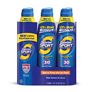 Coppertone Sport Continuous Sunblock SPF 30 Spray, 3 pk./7.5 fl. oz.