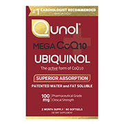 Qunol MEGA Ubiquinol CoQ10 Softgels, 60 ct.