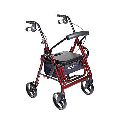 Drive Medical Duet Transport Wheelchair Chair Rollator Walker - Burgun