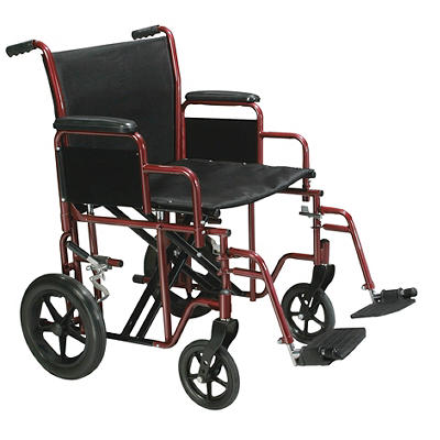 "Drive Medical Bariatric Transport Wheelchair With 20"" Swing-Away Footr"