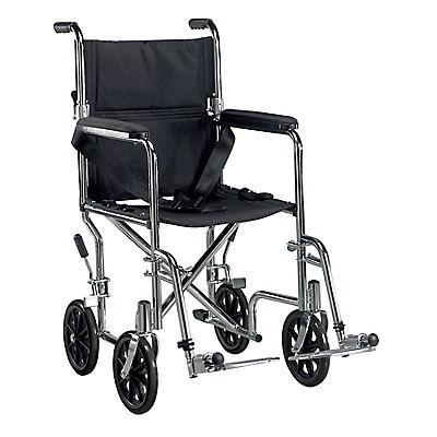 "Drive Medical Deluxe Go-Kart 19"" Transport Chair - Chrome"