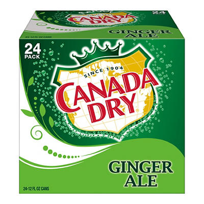 Canada Dry Ginger Ale, 24 ct./12 oz. cans